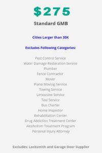 Standard GMB listing